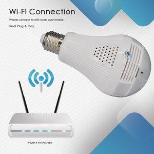 Image 4 - CTVMAN פנורמי הנורה מצלמה 1080P מלא HD 2mp 360 תואר Fisheye Wi fi אלחוטי LED אור מנורת IP P2P E27 כיפת VR אבטחת מצלמת