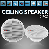 2Pcs Ceiling Speaker Systems Waterproof 2 Way Mount Home Background Loundspeaker Amplifier In Wall/Boat/Car/Marine Music Player