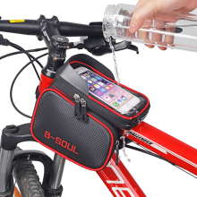4 вида велосипедных сумок, велосипедная Передняя сумка для телефона с сенсорным экраном, сумка для горного велосипеда с верхней трубкой, велосипедная сумка для велосипеда