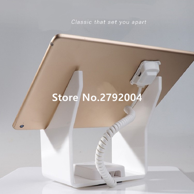 10pcs/lot Tablet security alarm Ipad display stand anti theft holder charging apple mount devices for retail phone shop sales  phone security stand tablet display holder ipad burglar alarm iphone retail alarm cellphone anti theft device for appple shop