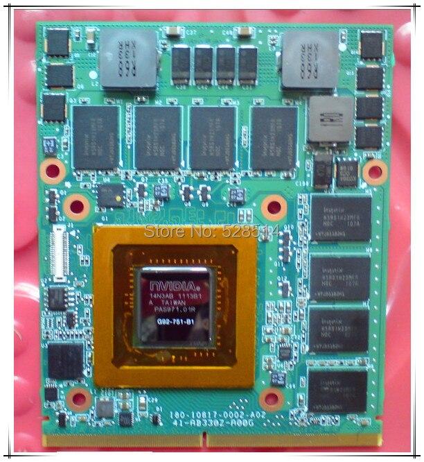 original G92-751-B1 FOR DELL Alienware M15X M17X graphics board 100% TESED philip watch часы philip watch 8223597010 коллекция caribe