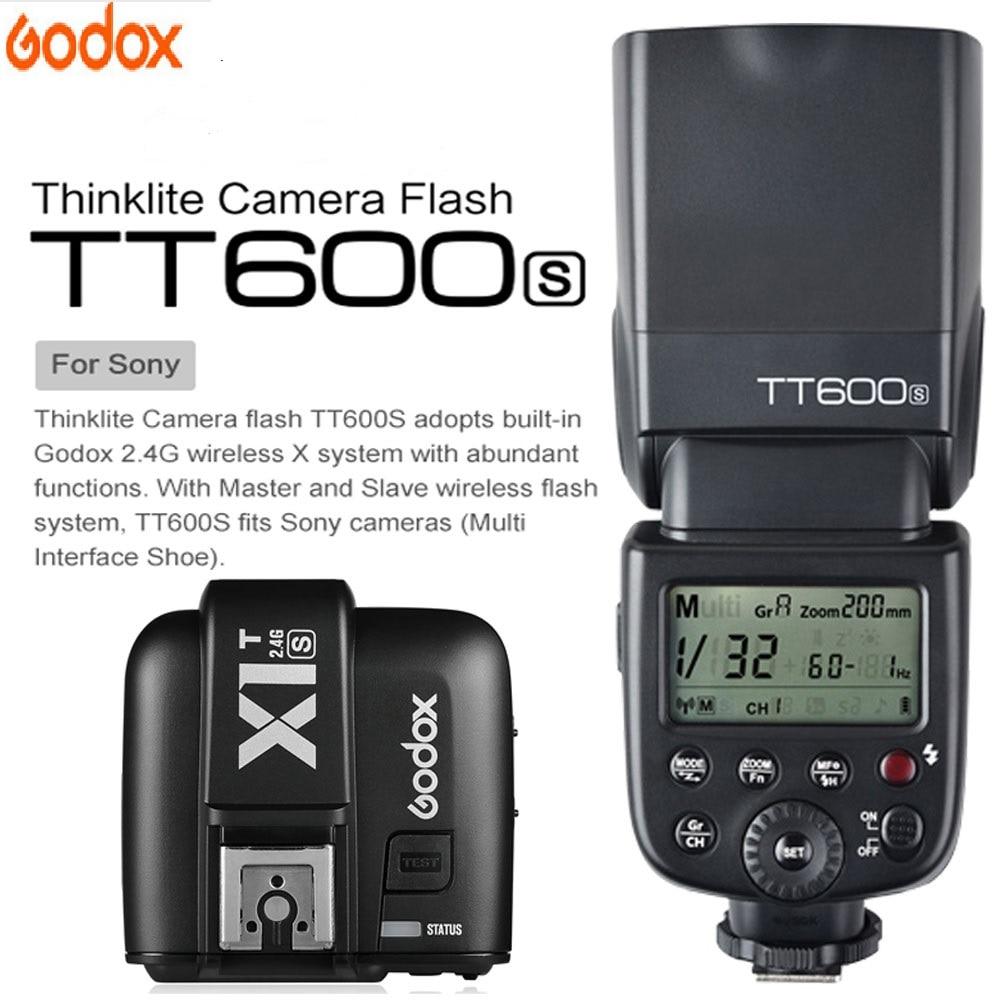 Godox TT600 For Sony a6000 a7II a7 a7r a7s TT600S Flash With TTL 1/8000s XSystem Flash Speedlite + X1T-S Transmitter Trigger Godox TT600 For Sony a6000 a7II a7 a7r a7s TT600S Flash With TTL 1/8000s XSystem Flash Speedlite + X1T-S Transmitter Trigger