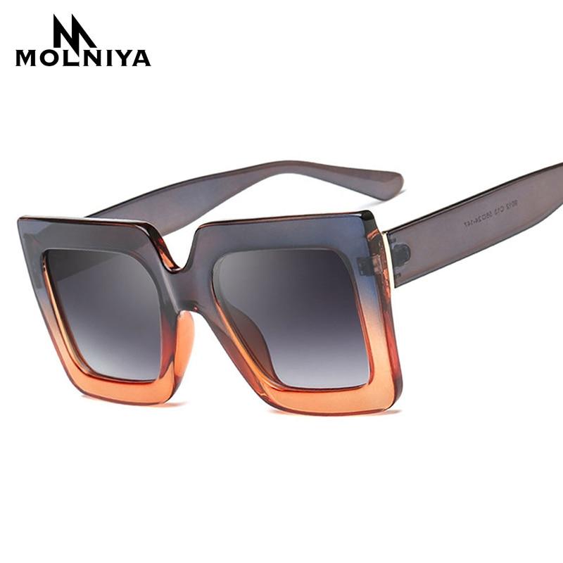 MOLNIYA 2018 Retro Quadrat Sonnenbrille Frauen Männer Bunte - Bekleidungszubehör