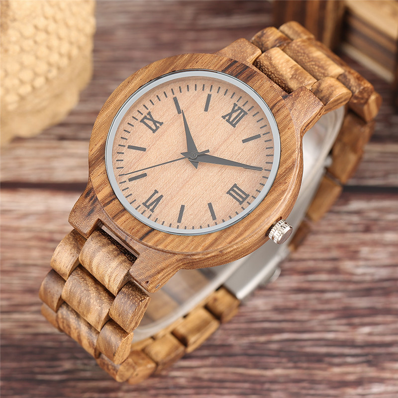 YISUYA Nature Wood Bamboo Watch მამაკაცის - მამაკაცის საათები - ფოტო 3