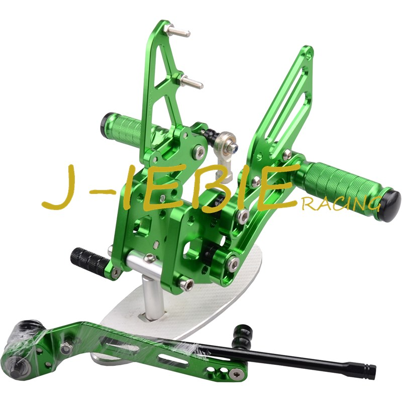 CNC Racing Rearset Adjustable Rear Sets Foot pegs For Suzuki GSXR 600 750 GSXR600 GSXR750 2006 2007 2008 2009 2010 K6 GREEN new motorcycle ram air intake tube duct for suzuki gsxr600 gsxr750 2006 2007 k6 abs plastic black