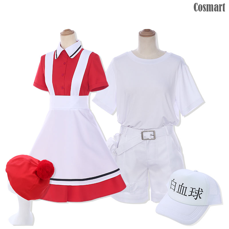 [STOCK]Amine Cells At Work Hataraku Saibou Erythrocite Red Blood Cells White Blood Cells Cosplay Costume Youth costumes