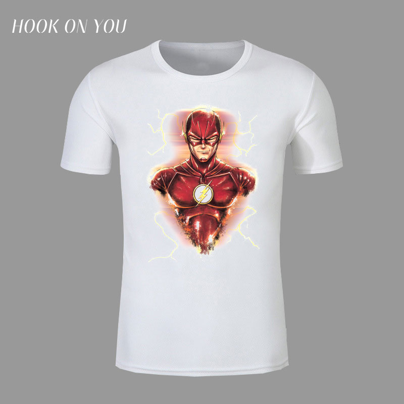 Compression Shirt The Flash Man T-shirts Men Raglan short Sleeve the Flash Cosplay Costume Slim Fit Clothing Tops Male