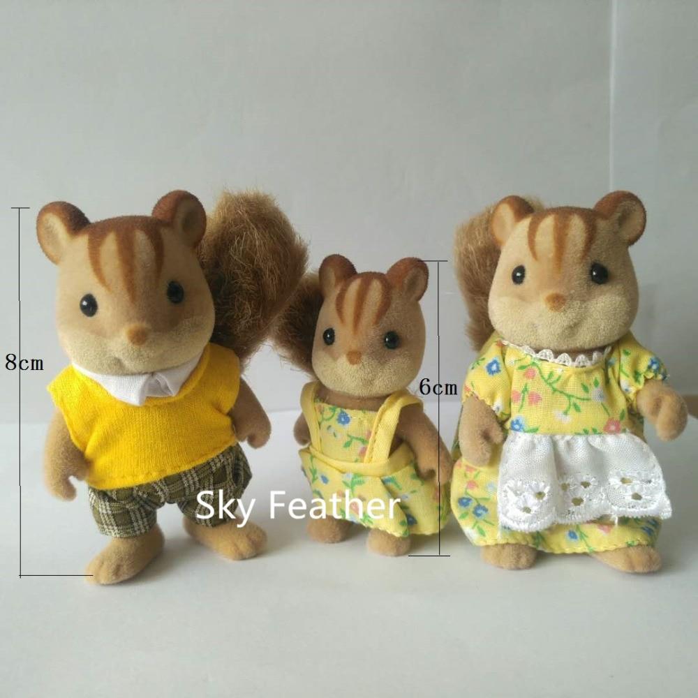 Familia de ardilla tamaño mini Figuras de la familia Sylvanian - Peluches y felpa - foto 2