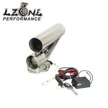 LZONE ГОНКИ-3 «76 мм Выпускной Downpipe Testpipe Catback E Электрический Выпускной Cutout комплект с Дистанционным 3 inch JR-CT94-30