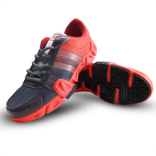 Marathon running shoes Outdoor Stability breathable sports running Massage comfortable Rubber New stripe popular Air mesh shoes