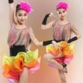 The new tassel latin dance kids dance dress for girls ballroom dance competition dresses