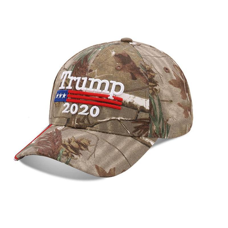 1x Trump 2020 Cap USA Flag Camouflage Baseball Cap Presidential Headdress(China)