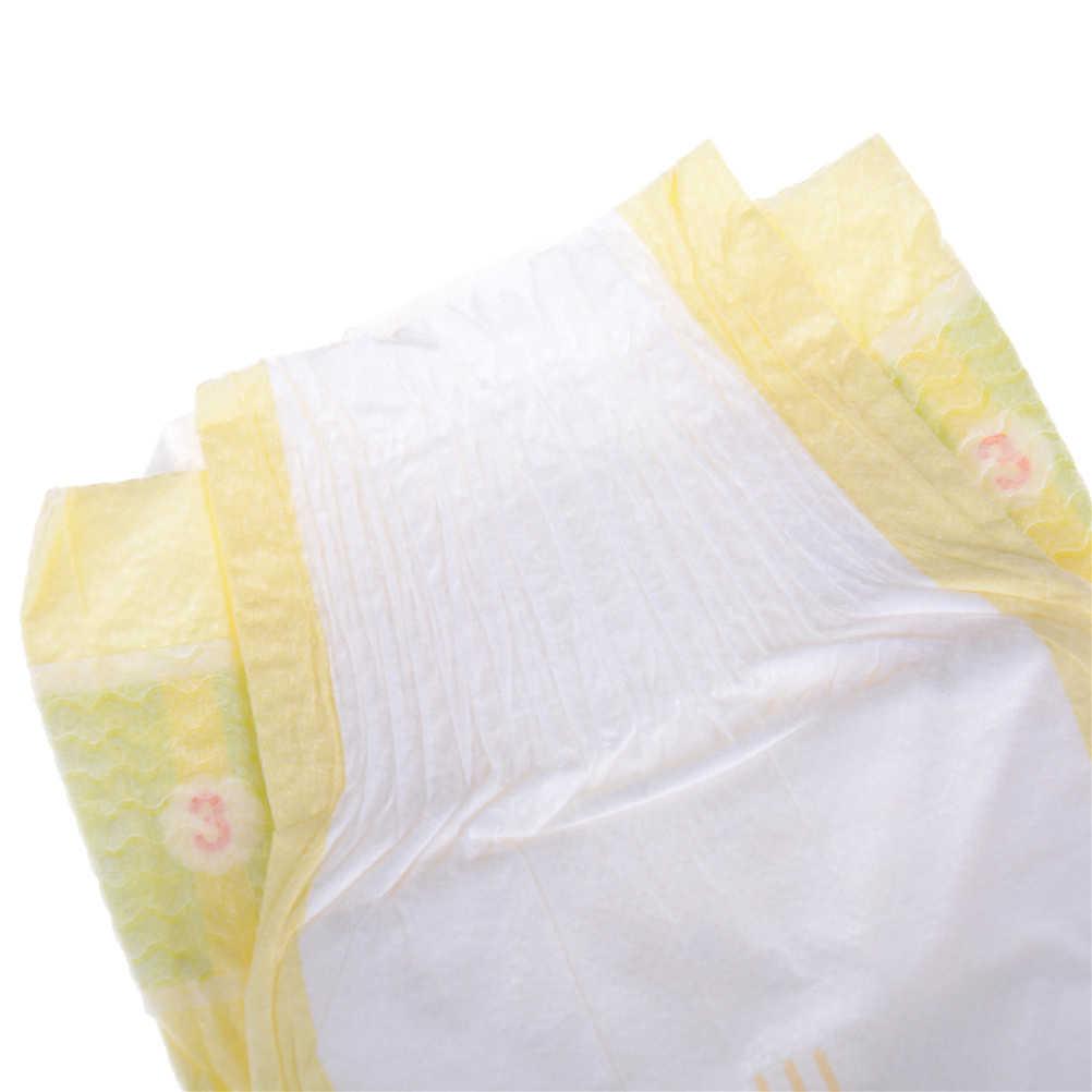 Pañales blandos pequeños y bonitos desechables para recién nacidos, pañales blancos de sección fina, se ajustan a 43cm, regalo para niños 1 unidad