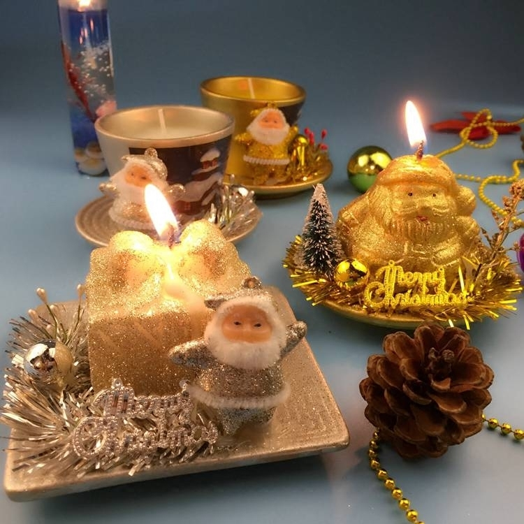 Christmas Scented Birthday Weddings Candles Snowman Flameless Candles Cake For Children Gifts Birthday Decor Christmas Candles