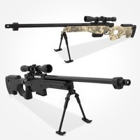 1:4 Alloy AWM Sniper Rifle Assemble Metal Toy Gun Military Model Can Not Shoot For Collection