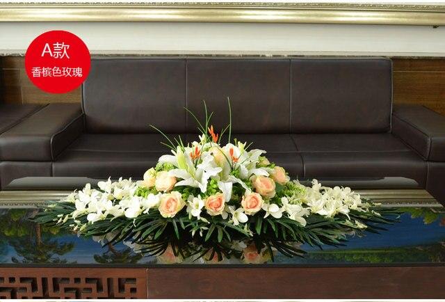 Hause Dekorative Weiss Champagner Kunstliche Blumen Kirche Buhne Hall