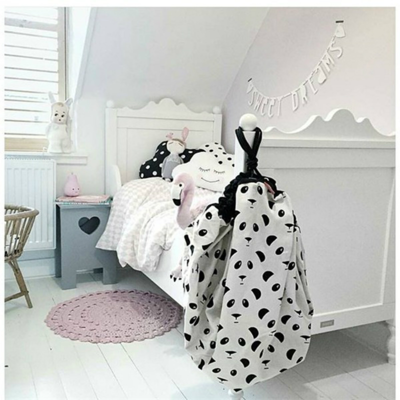140CM Baby Stroller Bags Accessories Kids Play Mat Track Blanket Canvas Toys Storage Bag Batman Cross Travel Round Carpet zak | Happy Baby Mama