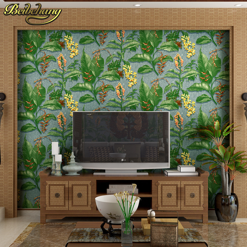 beibehang European pastoral flowers Background Wallpapers papel de parede 3D Wall Paper for Living room Bedroom Wallpaper Roll beibehang papel de parede retro classic apple tree bird wallpaper bedroom living room background non woven pastoral wall paper