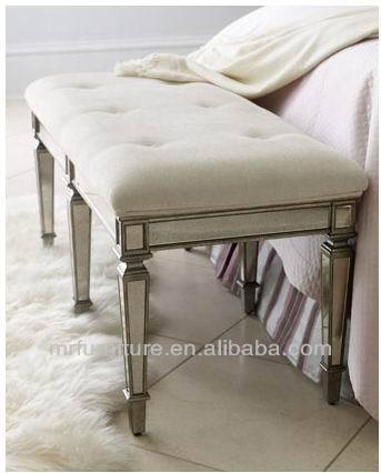 MR 401052L Camera Da Letto sgabello panca con cuscino unpholstery in ...