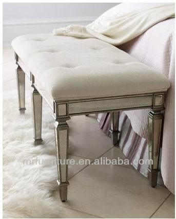 Mr 401052l dormitorio de banco heces con unpholstery cojín en ...