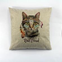 Vector lovely cats imprimir patrón Decorativo casero caso cojín decorar el hogar funda de almohada
