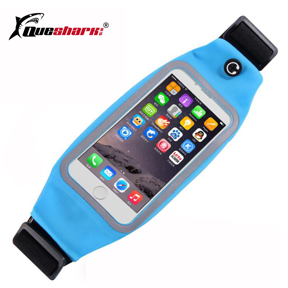 Men Women Touch Screen Running Waist Bags Mobile Phone Fanny Packs Sports Zipper Anti-theft Belt Waist Packs