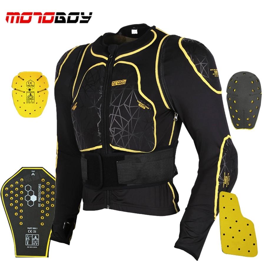Livraison gratuite 1 pièces Moto Complet D'armure de Corps de Moto Protecteur Motocross Veste De Protection Avec 7 pièces Tampons