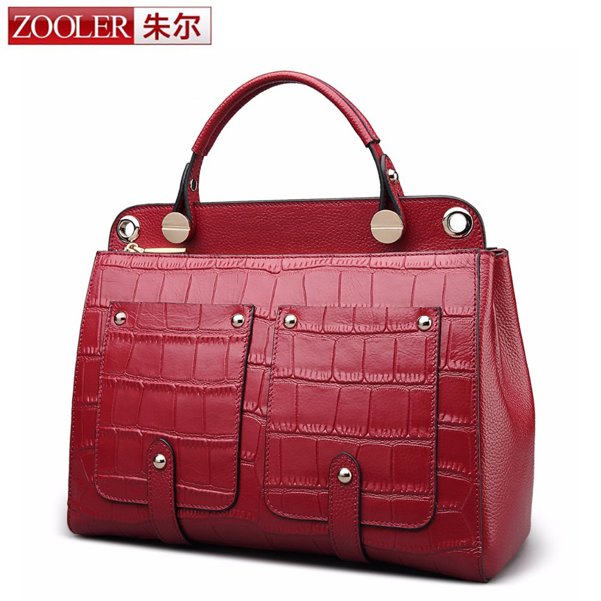 ZOOLER Real Cow Leather Ladies Handbags Women Genuine Leather bags Totes Messenger Bags High Quality Designer Luxury Brand Bag donghong real cow leather ladies hand bags women genuine leather handbag shoulder bag hign quality designer luxury brand bag