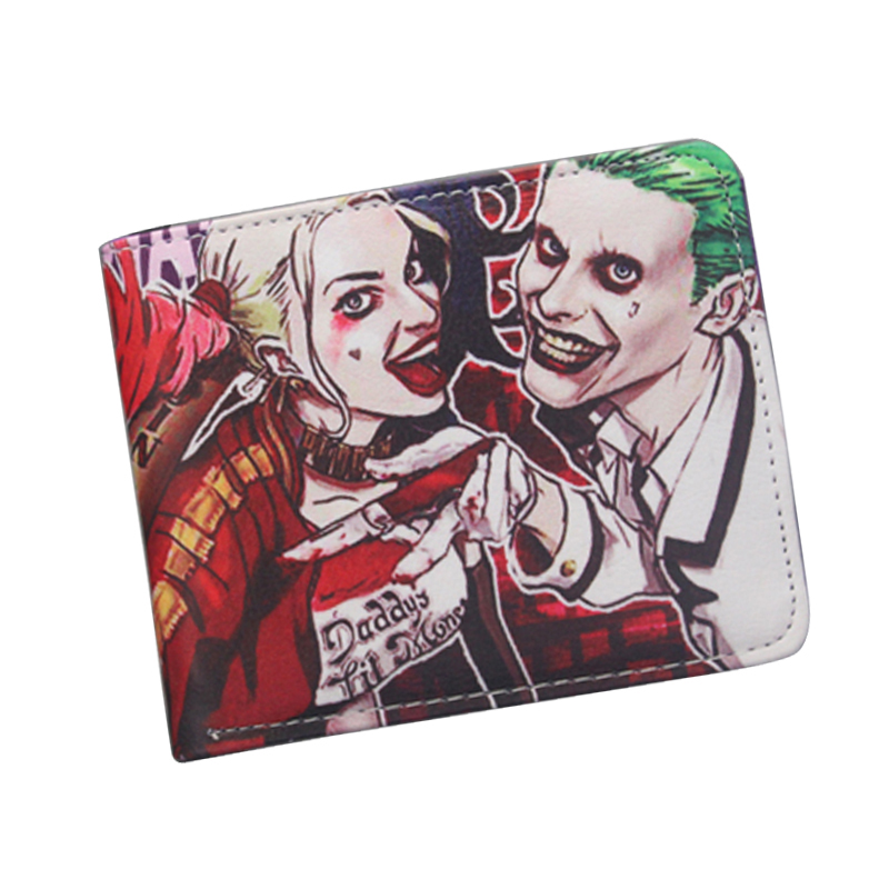 High Quality SUICIDE SQUAD Wallet Short Leather Women Wallet Purse Anime Batman The Joker Wallet Funny Gift For Boy Girl Friend suicide squad neko atsume yo kai watch doctor strange gravity falls high quality pu short wallet purse with button