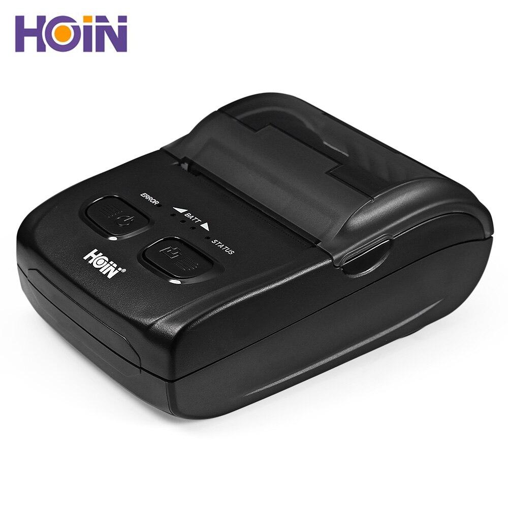 Imprimante thermique portative de HOIN HOP-H200 connexion d'usb Bluetooth impression Mobile de Ticket de reçu impression Rechargeable 1.D 2.D