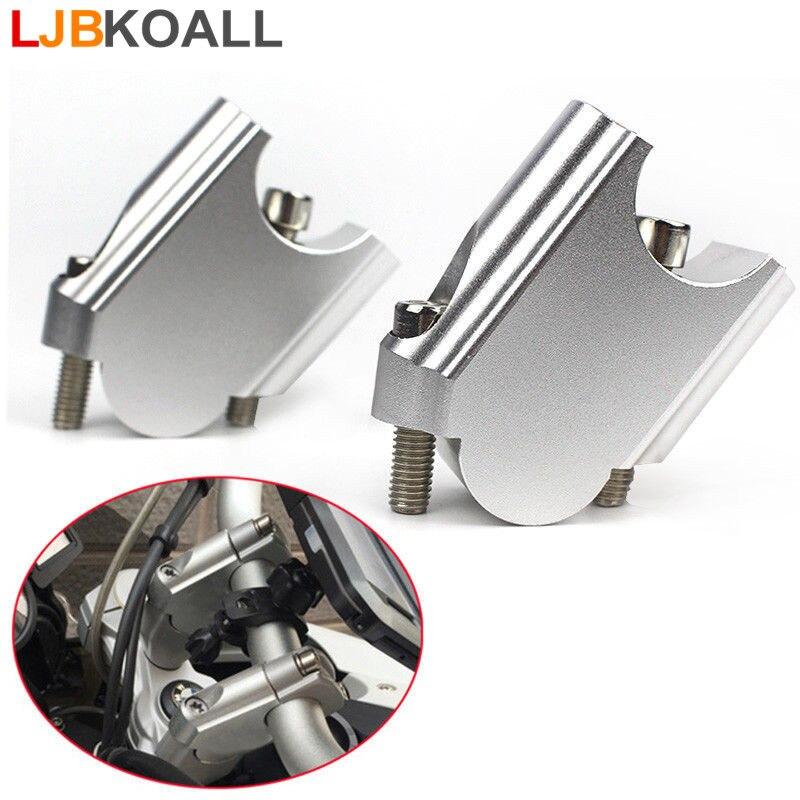 Nouveau 1 Paire En Aluminium 28mm Guidon Relanceur Riser Up Dos Se Déplace kit de support pour BMW F800GS F800GT 2008-2017 livraison Gratuite