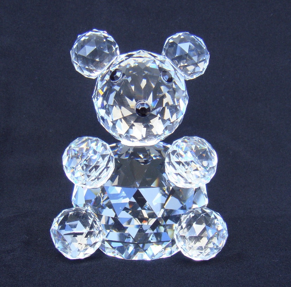 Miniature crystal ornaments - Quartz Crystal Toy Bear Model Facets Cut Grizzly Miniature Decoration Craftworks Ornament Present Bits And Pieces