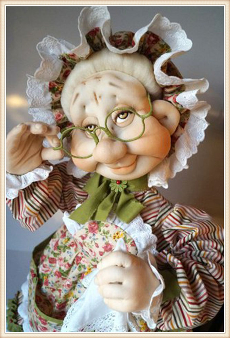 5D поделки алмазов картина Старый бабушка Кукла вышивки крестом Декоративные рукоделие Алмазная мозаика, алмазная вышивка Рождество подаро... ...