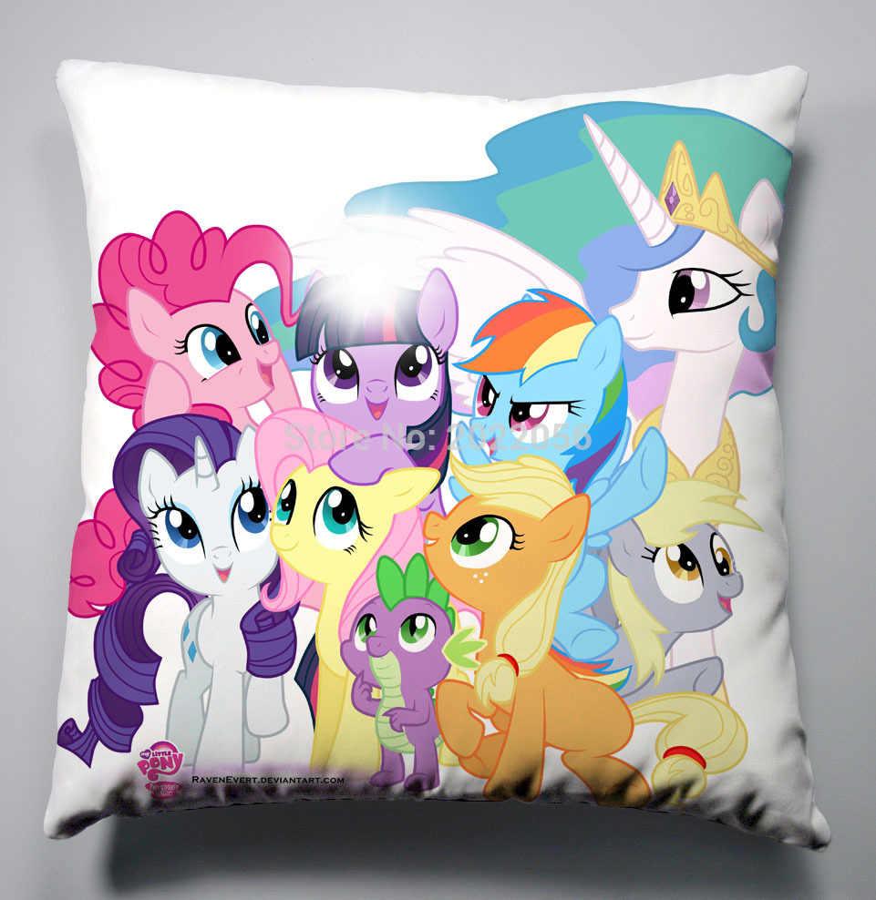 Аниме Манга мой маленький пони РАДУГА подушка с лошадью 40x40 см наволочка сиденье постельные принадлежности Подушка 011