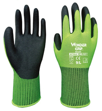 Garden Glove Safety Glove Nylon With Nitrile Sandy Coated Work Glove