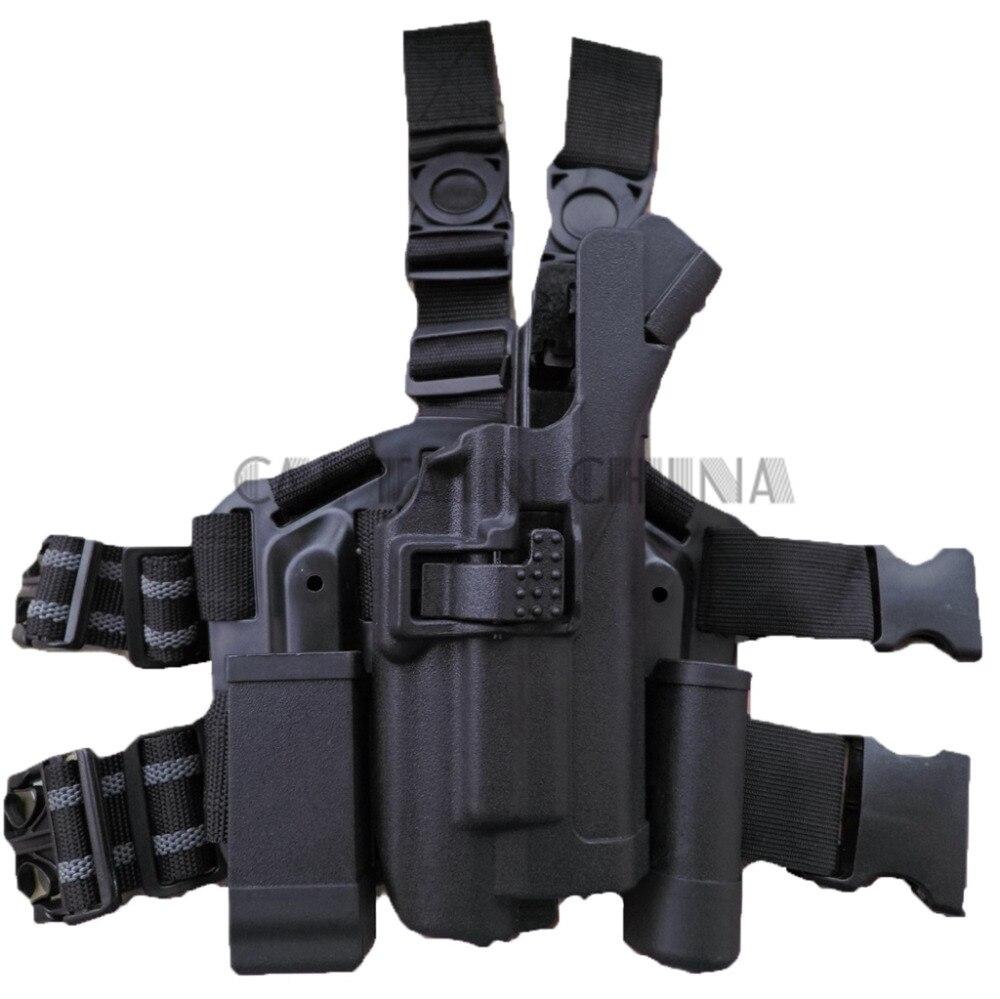 Military Tactical RH Drop Leg holster for XIPHOS Light Bearing HOLSTER SET for GLOCK 17 19 22 23 31 32 tmc mp7 holster swat tactical drop leg holster in night prowls kryptek typhon free shipping sku12050459