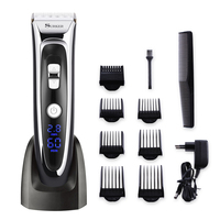Professional Mute Electric Hair Clipper Trimmer Adjustable Blade Ceramic Knife Rechargeable 100 240V Digital Screen Barber Tool