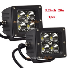 Eyourlife 3 inch 20w 12v 24v offroad Square led work light bar for atv off road