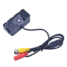 3 IN 1 Video Parking Sensor with Rear View Camera and Radar Detector Sensors