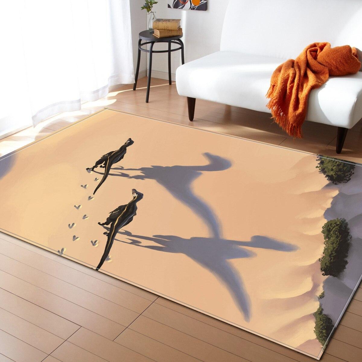 Ancient Dinosaur Carpet For Living Room Kids Bedroom Floor Mat Kitchen Decor Rug Table Rectangular Floor Mat