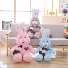 New Style Smile Long Ear Rabbit Plush Toy Stuffed Animal Doll Best Gift Send to Children & Girlfriend