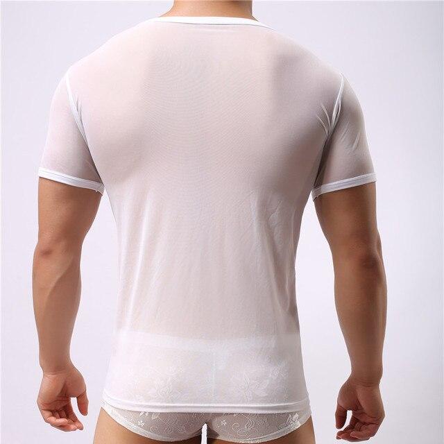 Männer Unterhemd Transparent Hemd Ärmellos T-shirt Sexy Body 5