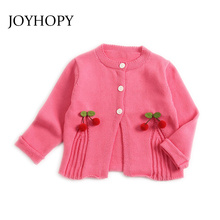 Baby Girl Jackets Spring Autumn knitted Infant Toddler Cardi