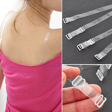 2016 Fashion 2X Adjustable Invisible Transparent Clear Bra Strap Metal Hook 1CM