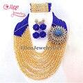 Promoção Big Beads Africanos Conjunto de Jóias Conjuntos de Jóias de Casamento Nigeriano Africano Contas de Cristal Jóias Define E1034