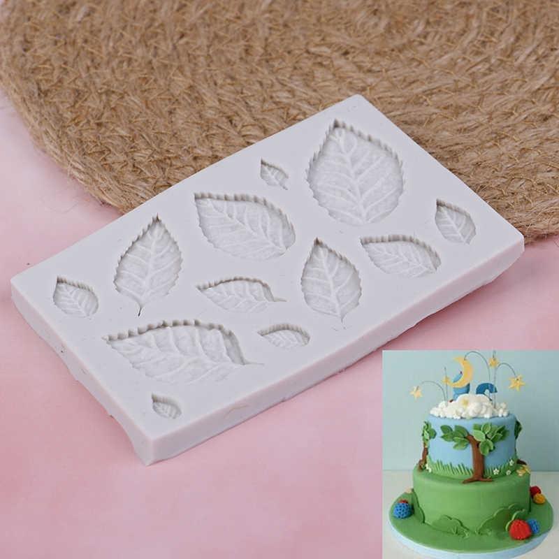 新着ローズ葉シリコーン石鹸金型キッチン型 Gumpaste キャンディークッキーツールフォンダンケーキデコレーション