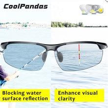 Photochromic hd óculos de sol homem polarizado camaleão óculos de pesca condução máscaras óculos de sol masculino dia da noite