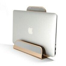 2 In 1 Funzione di Staffa In Lega di Alluminio Ferma per Macbook Air Pro Retina 11 12 13 15 Verticale Supporto di Base per IPAD PC Basamento di Raffreddamento