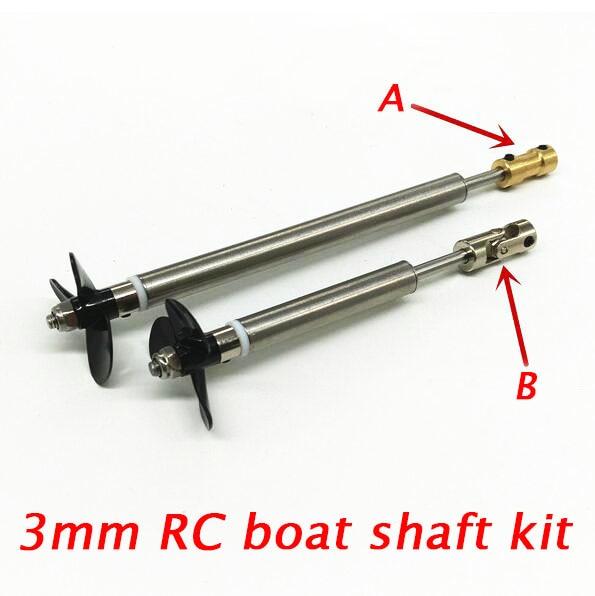 Free Shipping 3mm Rc Boat Drive Shaft Kit Shaft Propeller