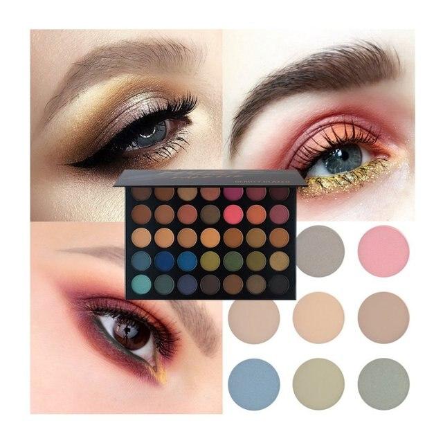 Beauté glaçure marque 35 couleurs femme paillettes diamant Pigment ombre à paupières Palette naturel mat fard à paupières maquillage